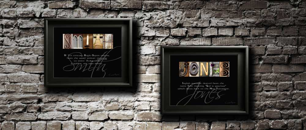 SMITH & JONES, Surname Meaning, Letter Art