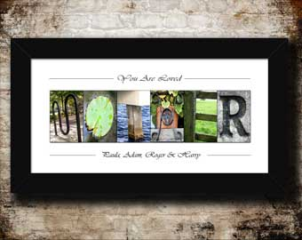 Family & Home Letter Art Slideshow