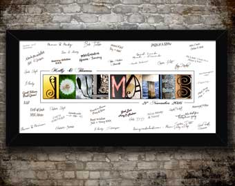 Guest Signature Letter Art Prints Slideshow