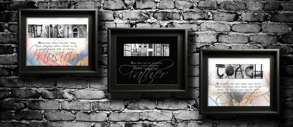 MUSICIAN FATHER COACH My Hero Dad Letter Art Quotes Personalized Gift