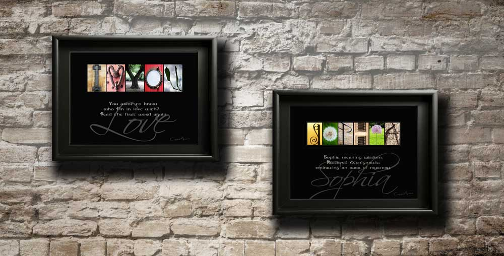 ILOVEYOU Love Letter Alphabet Art Sentiment & First Name Images Personalised Artwork Famous Quote