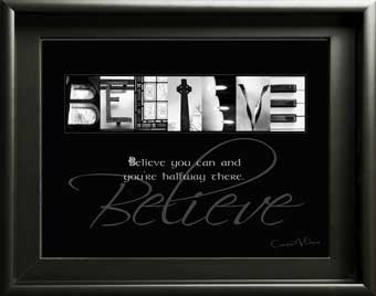 Believe You Can Alphabet Art Image With Inspirational Quote Gift Religious Spiritual Faith