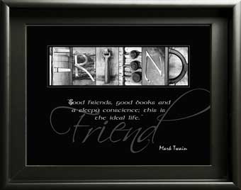 Friend Boy Girl Forever Friends Friendship Letter Art Image With Inspirational Quote Digital Download DIY Gift
