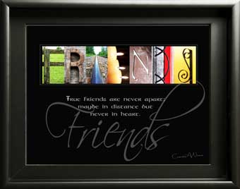 Alphabet Art  Boy Girl Friend Forever Friends Friendship Image Inspirational Quote Digital Download DIY Gift