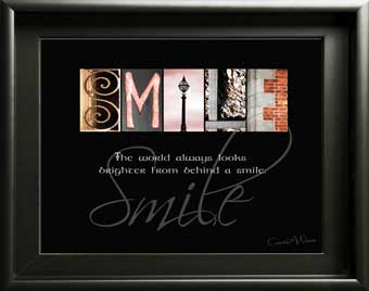 Smile Alphabet Art Image With Inspirational Quote Digital Download DIY Gift Girl Boy Friend  Husband Wife Gift