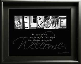 Welcome Home Alphabet Art Image With Inspirational Quote Digital Download DIY Gift Housewarming Xmas New House failte