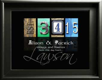 Wedding Date Anniversary Inspiring Quote Gift Alphabet Love Letter Art Keepsake