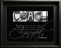 Coach Alphabet Photography, Inspiring Quote Coach Letter Artwork Gift Group Team Gift Thank You Personalised digital download