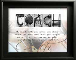 Letter Art with Inspiring Quotes, Coach, Teacher, Gardener, Musician, Golfer, Graduate