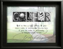Golfer Letter Art, Inspiring  Golfer Quote Alphabet Photography, Gifts for Men, Golfer Gift Personalized Birthday Christmas