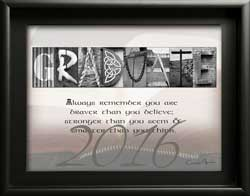Personalized Gradudate Letter Art Inspiring Quote Alphabet Photography, Gift for Gradudate Congratulations 2016 2017 2018